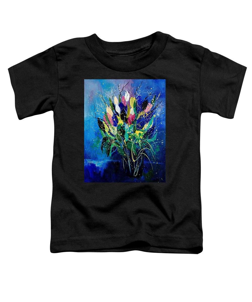 Flowers Toddler T-Shirt featuring the painting Tulips 45 by Pol Ledent
