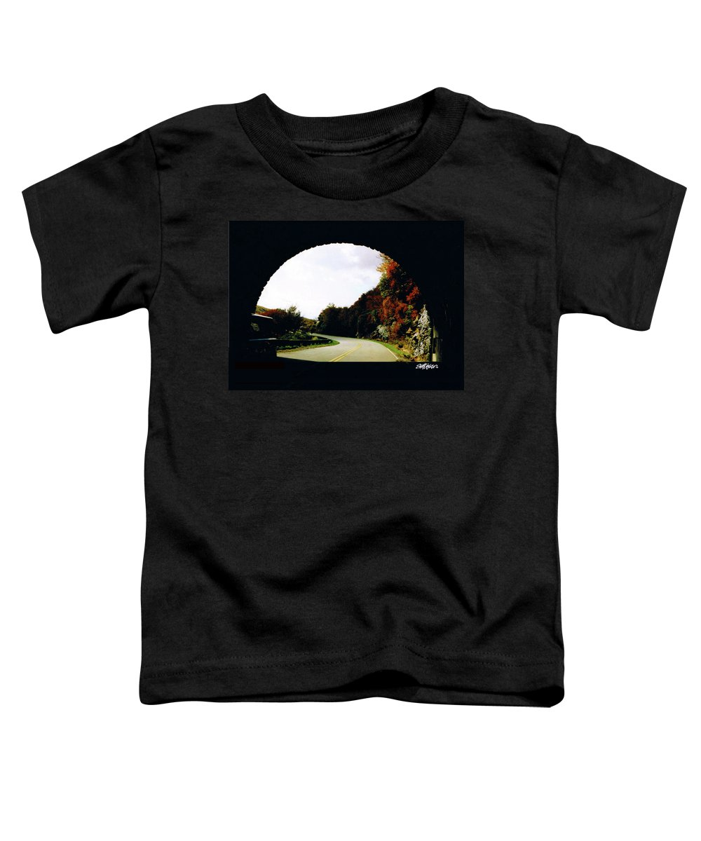 Tunnel Vision Toddler T-Shirt featuring the photograph Tunnel Vision by Seth Weaver