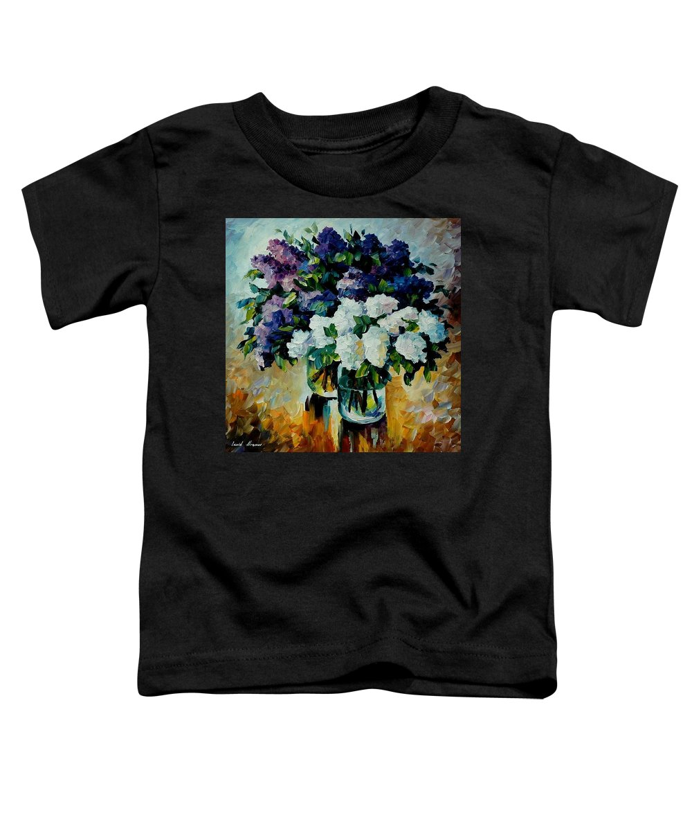 Painting Toddler T-Shirt featuring the painting Two Spring Colors by Leonid Afremov