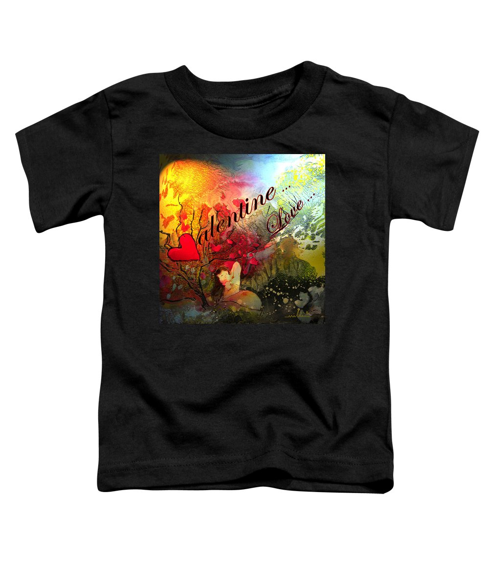 Valentine Toddler T-Shirt featuring the painting Valentine by Miki De Goodaboom