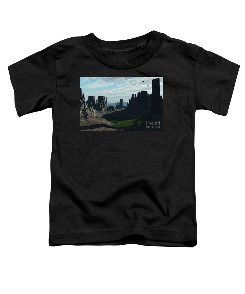 Valley Toddler T-Shirt featuring the digital art Valley Of The Kings by Richard Rizzo