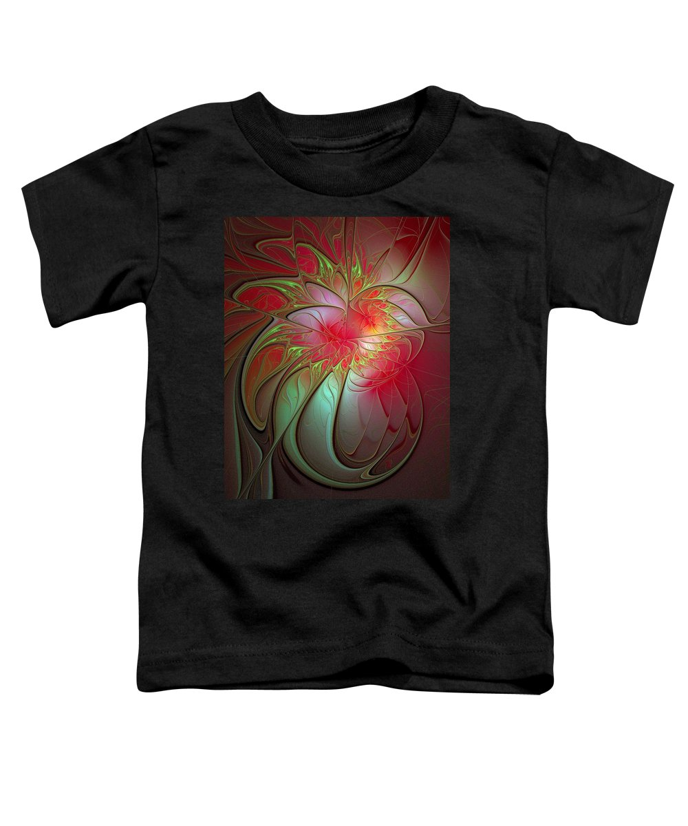 Digital Art Toddler T-Shirt featuring the digital art Vase Of Flowers by Amanda Moore