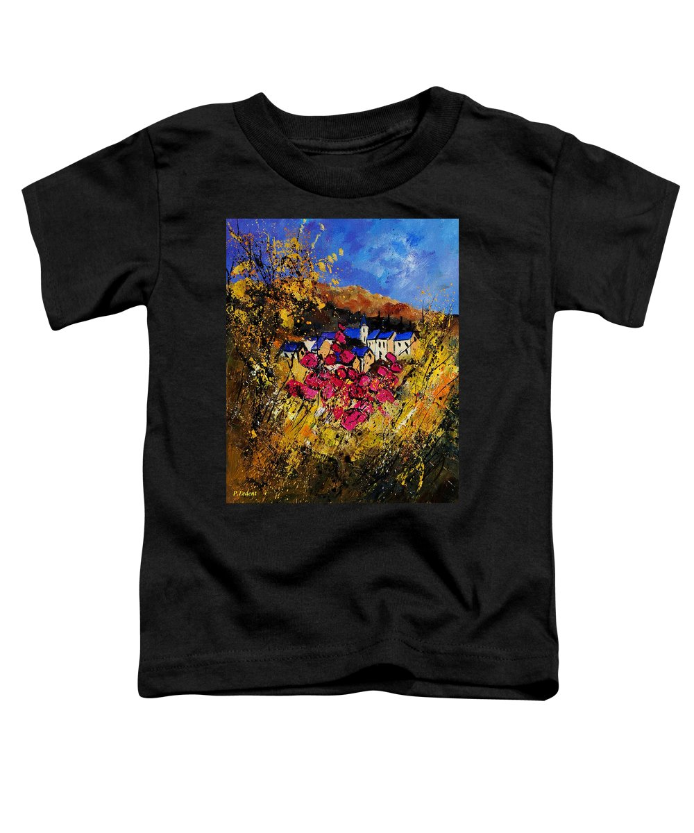 Flowers Toddler T-Shirt featuring the painting Village 450808 by Pol Ledent