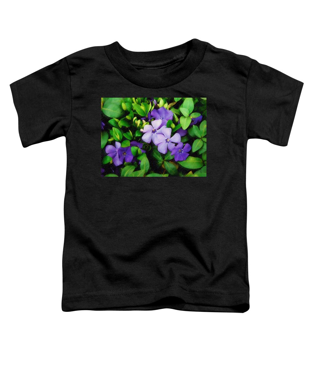 Vinca Toddler T-Shirt featuring the photograph Vinca by Sandy MacGowan