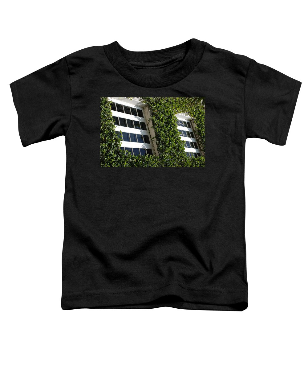 Architecture Toddler T-Shirt featuring the photograph Vines And Glass by Rob Hans