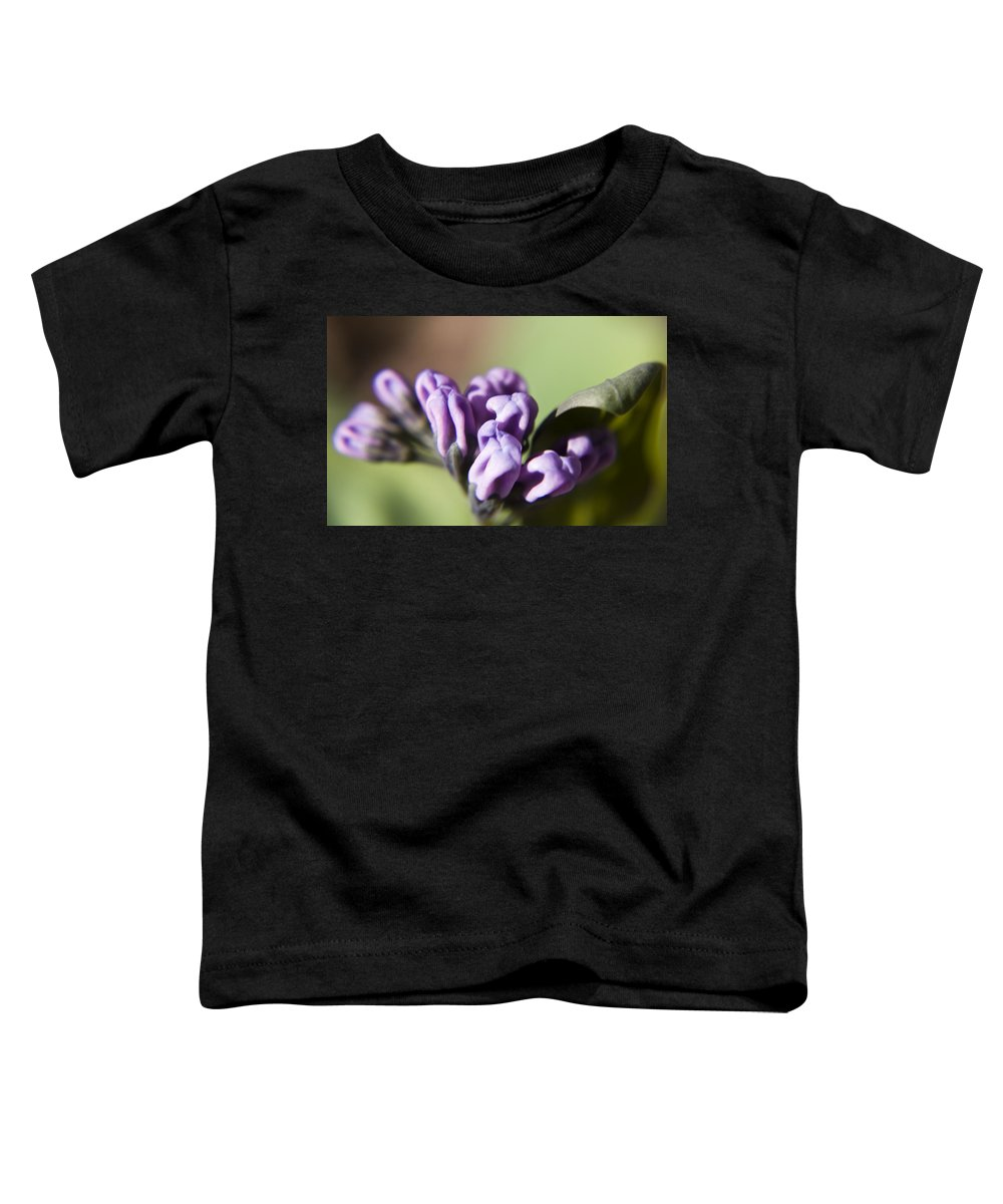 Virginia Toddler T-Shirt featuring the photograph Virginia Bluebell Buds by Teresa Mucha