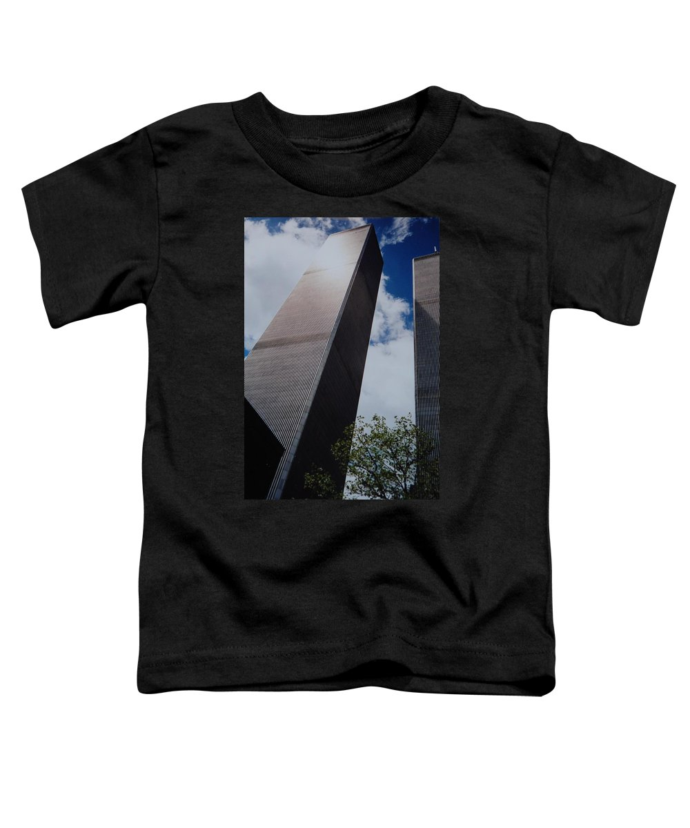 Wtc Toddler T-Shirt featuring the photograph W T C 1 And 2 by Rob Hans