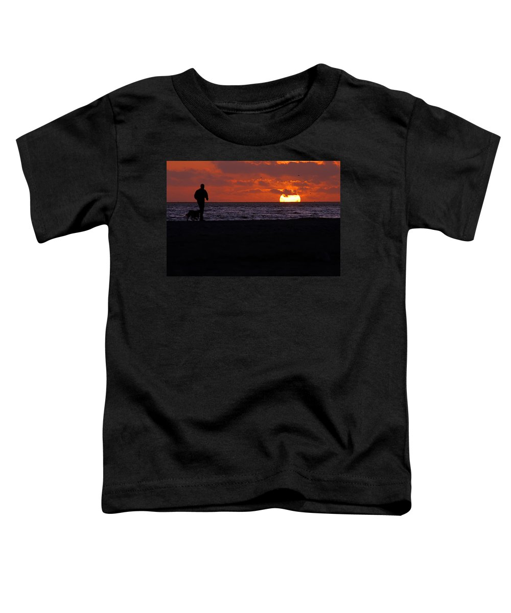 Clay Toddler T-Shirt featuring the photograph Walking The Dog by Clayton Bruster