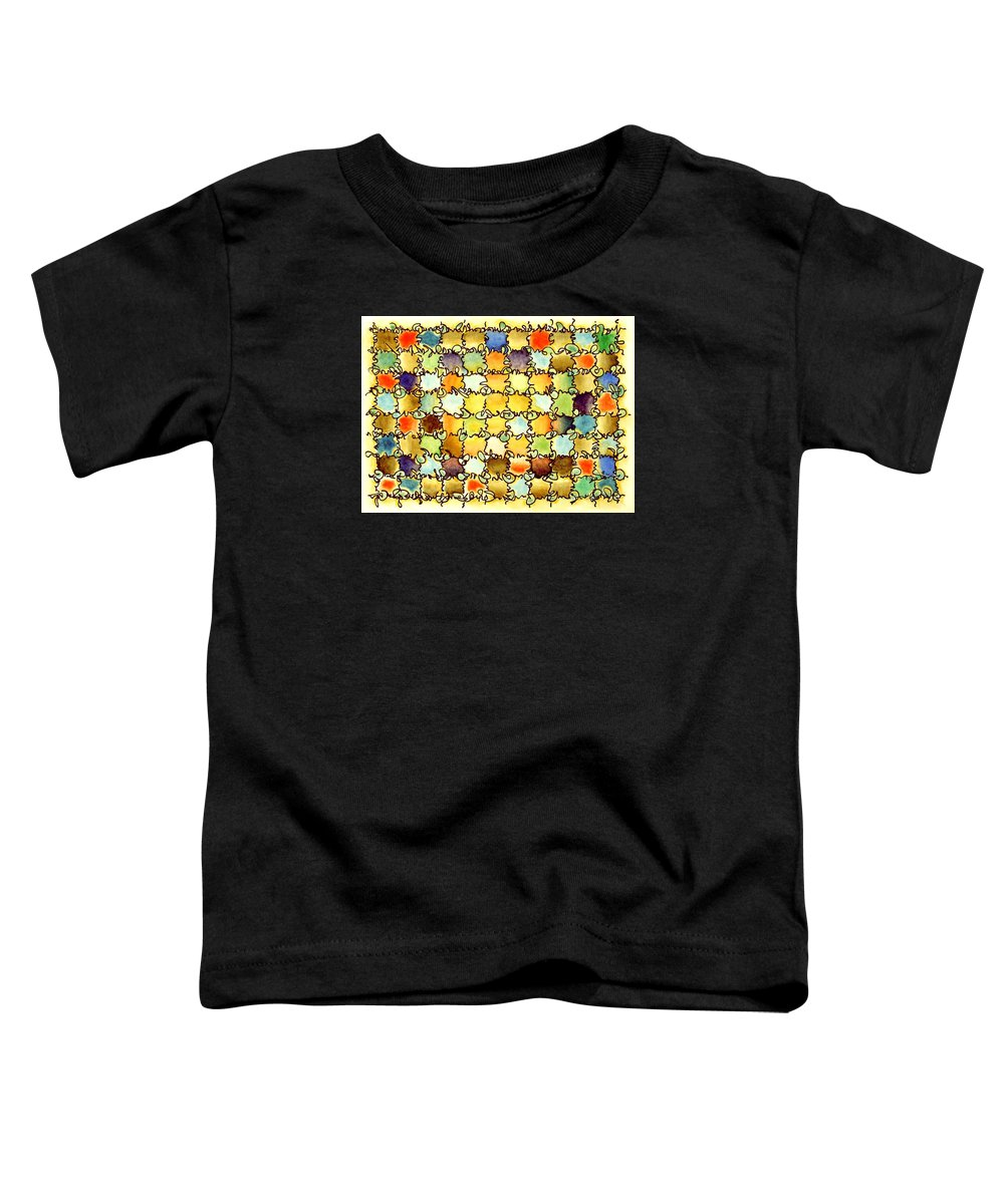 Abstract Toddler T-Shirt featuring the painting Warm Light by Dave Martsolf