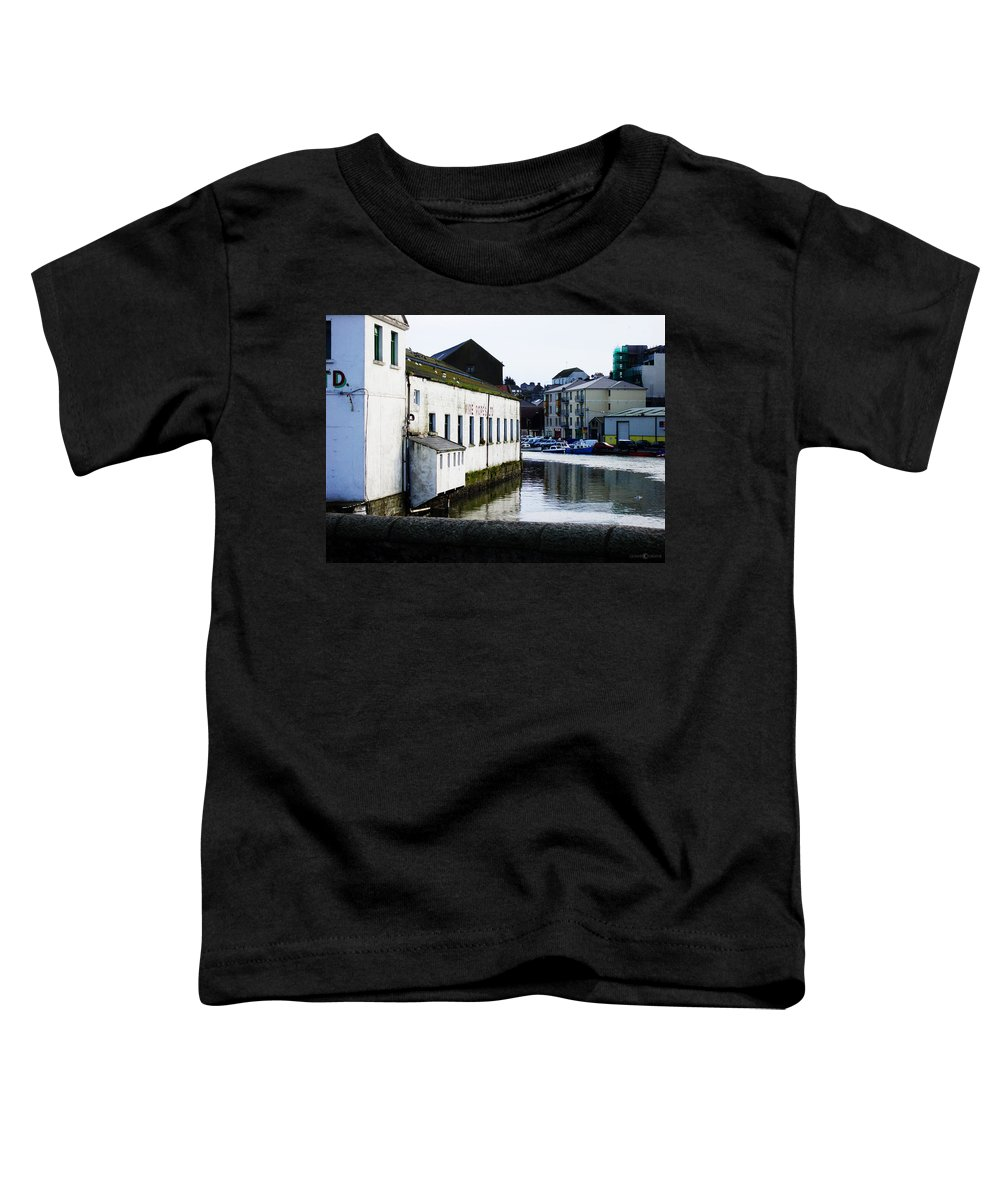 River Toddler T-Shirt featuring the photograph Waterfront Factory by Tim Nyberg