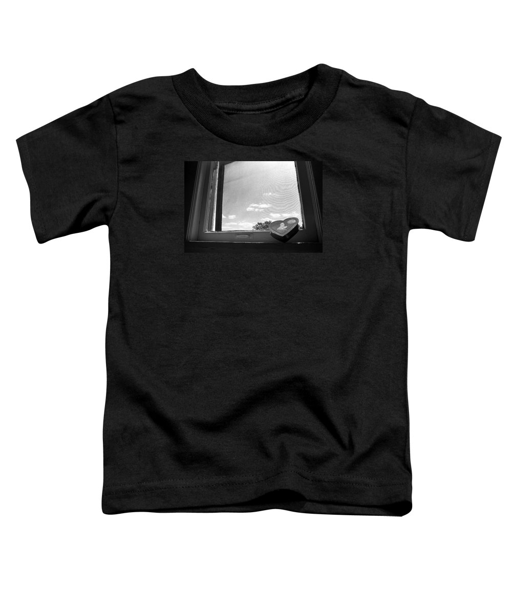 Window Toddler T-Shirt featuring the photograph What Remains by Ted M Tubbs