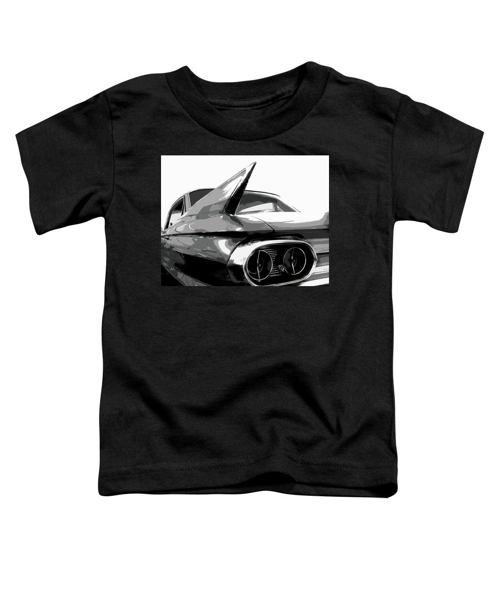Cadillac Toddler T-Shirt featuring the photograph When Fins Were Fashionable by Dick Goodman
