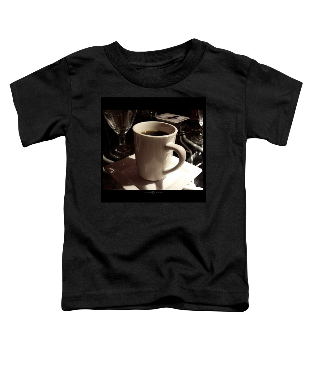 White Toddler T-Shirt featuring the photograph White Cup by Tim Nyberg