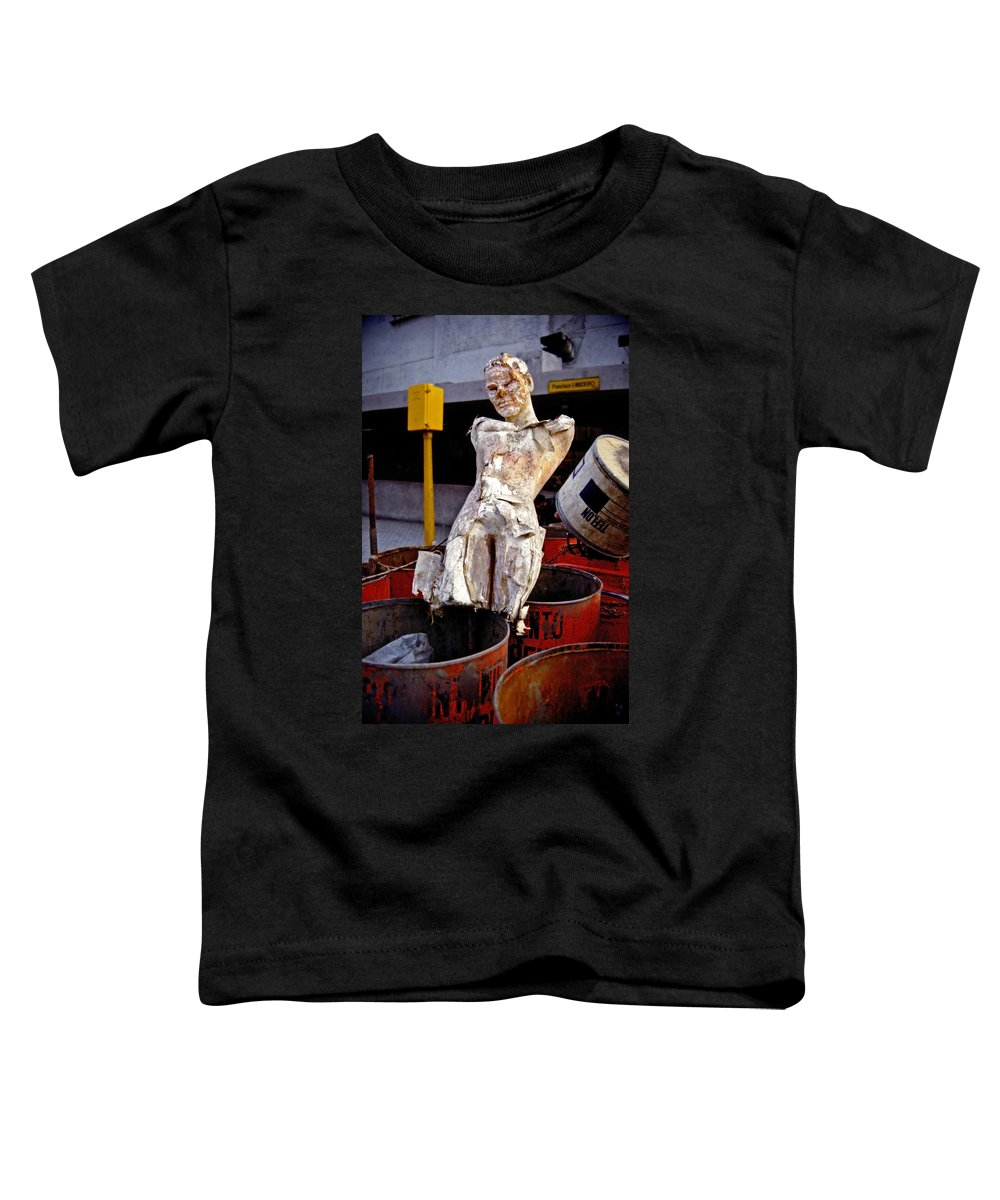 Trash Toddler T-Shirt featuring the photograph White Trash by Skip Hunt