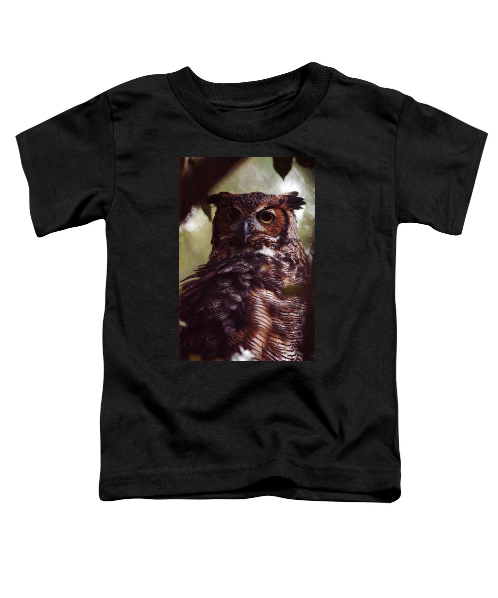 Clay Toddler T-Shirt featuring the photograph Who by Clayton Bruster