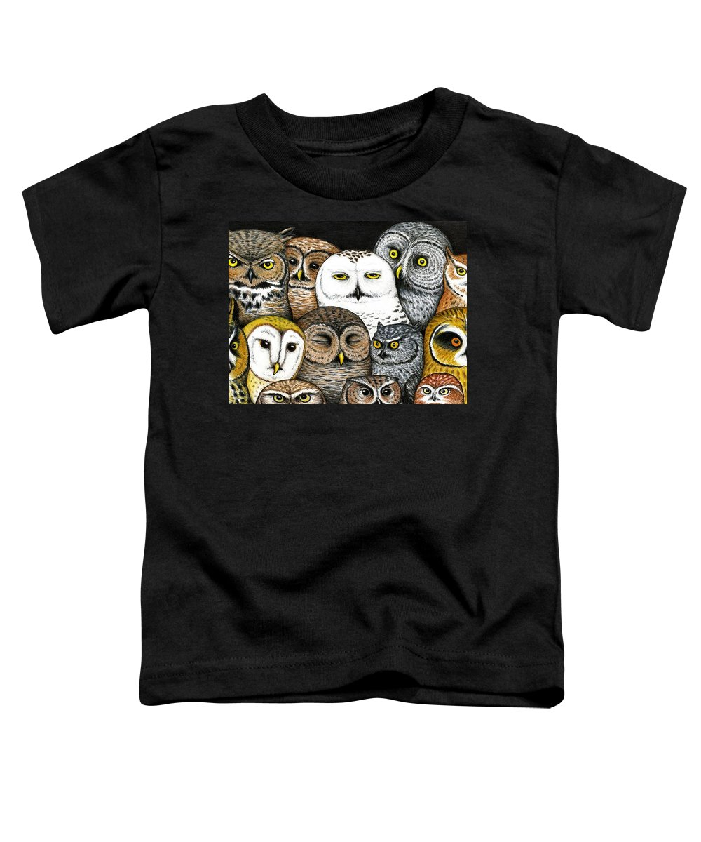 Art Toddler T-Shirt featuring the painting Who's Hoo by Don McMahon