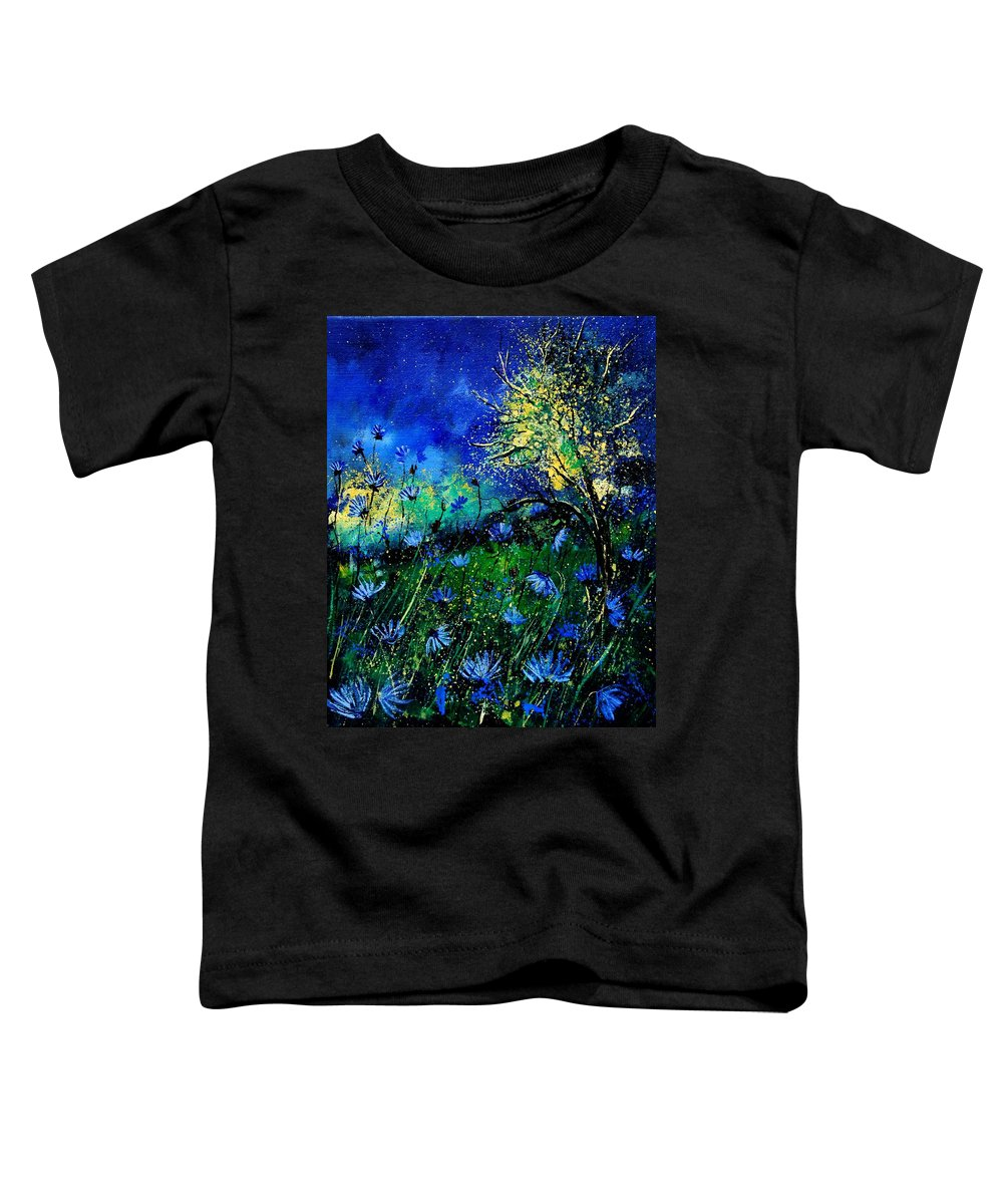 Poppies Toddler T-Shirt featuring the painting Wild Chocoree by Pol Ledent