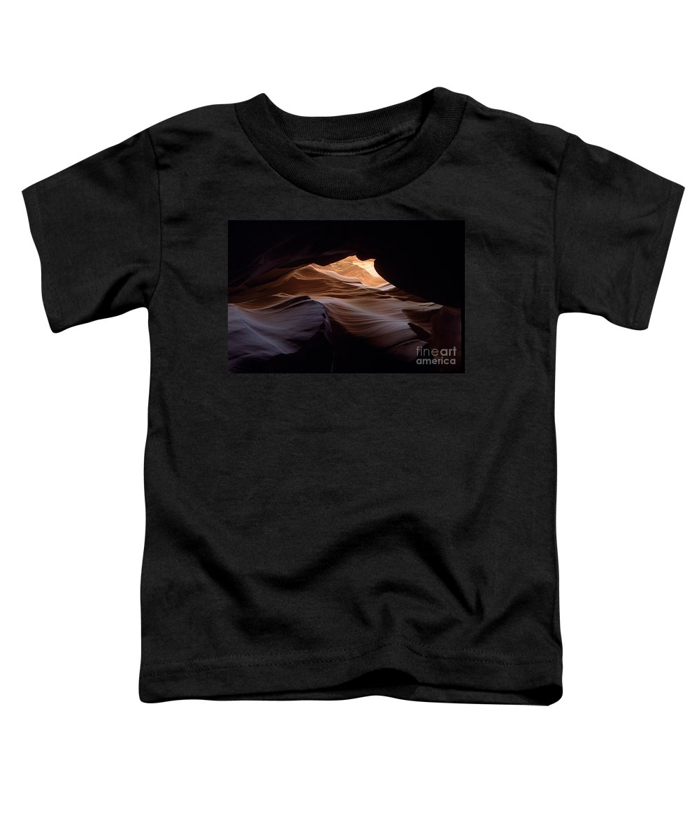 Antelope Canyon Toddler T-Shirt featuring the photograph Wind And Water by Kathy McClure