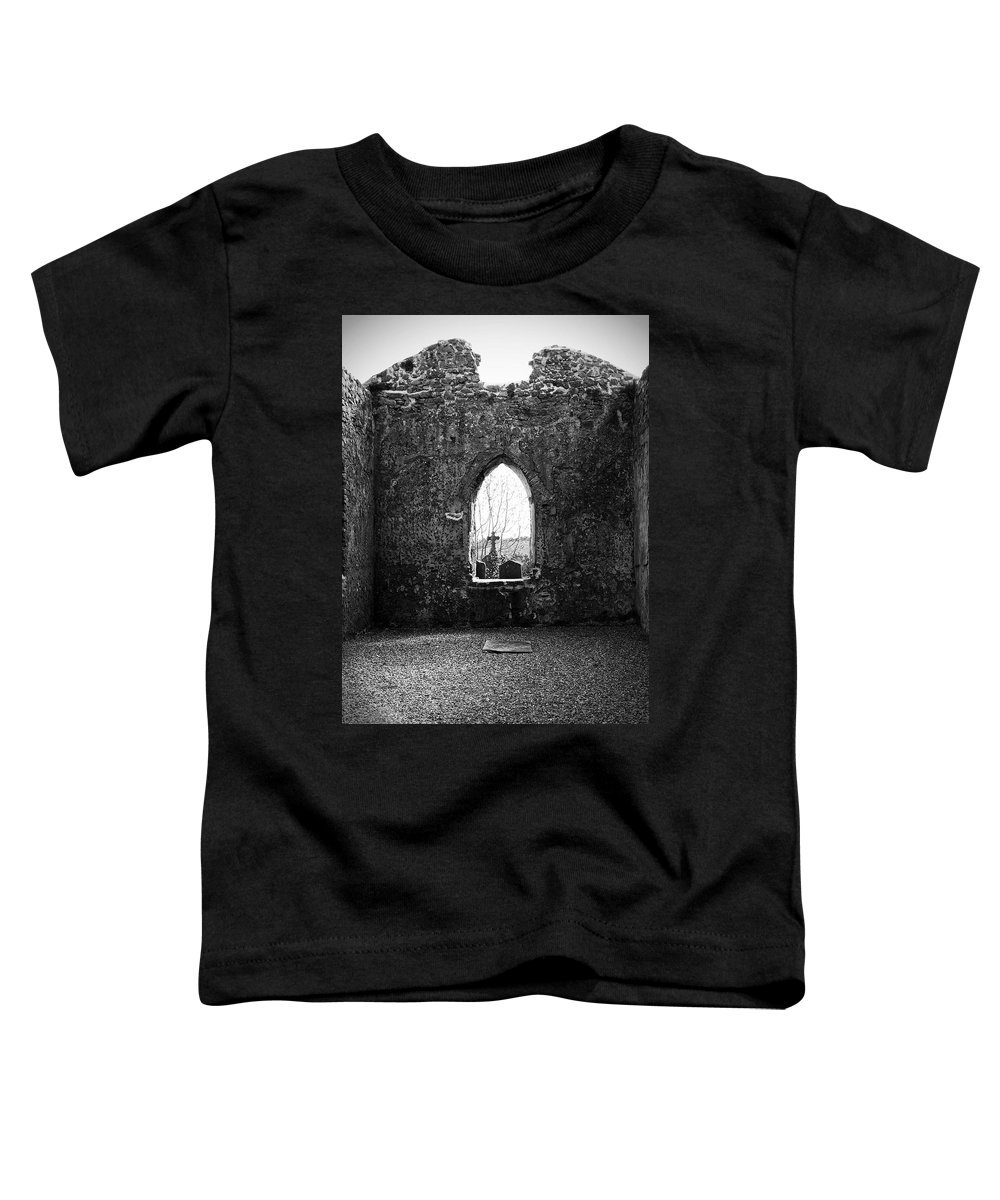 Ireland Toddler T-Shirt featuring the photograph Window At Fuerty Church Roscommon Ireland by Teresa Mucha