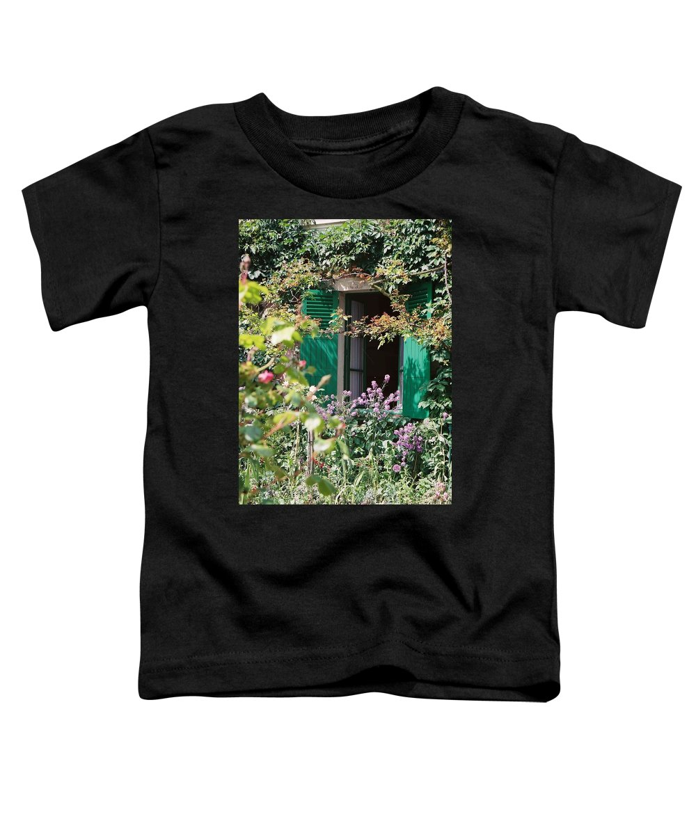 Charming Toddler T-Shirt featuring the photograph Window To Monet by Nadine Rippelmeyer