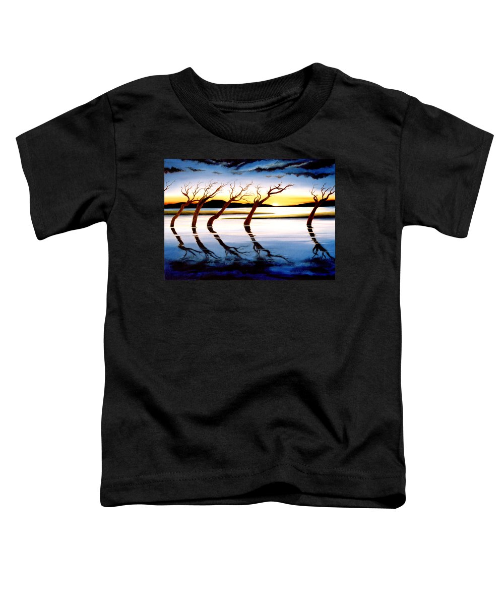 Seascape Toddler T-Shirt featuring the painting Winter Heatwave by Mark Cawood
