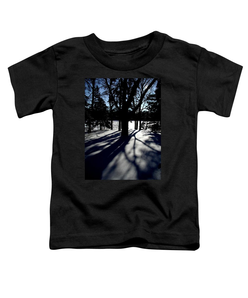 Landscape Toddler T-Shirt featuring the photograph Winter Shadows 2 by Tom Reynen
