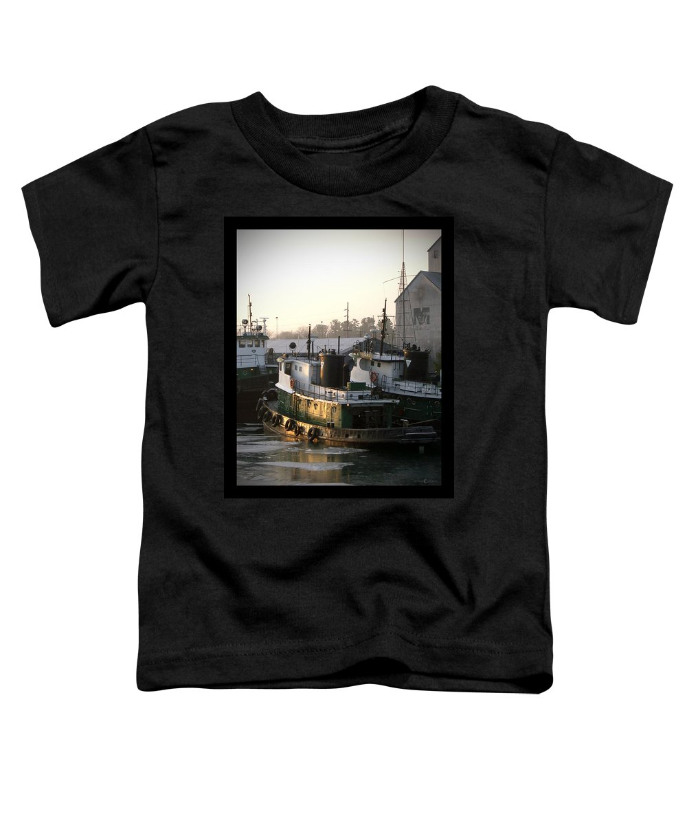 Tugs Toddler T-Shirt featuring the photograph Winter Tugs by Tim Nyberg