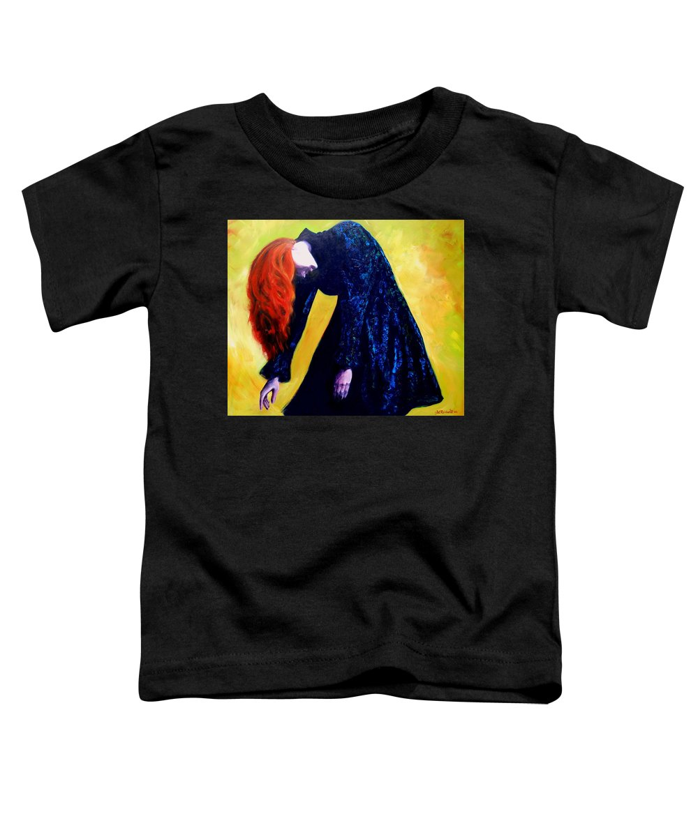 Acrylic Toddler T-Shirt featuring the painting Wound Down by Jason Reinhardt