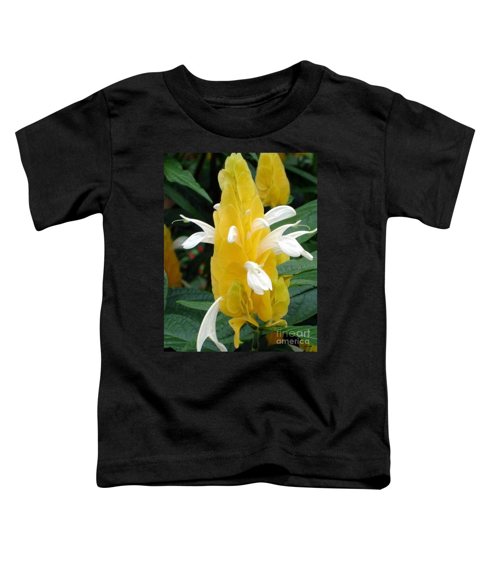 Flower Toddler T-Shirt featuring the photograph Yellow Eruption by Shelley Jones