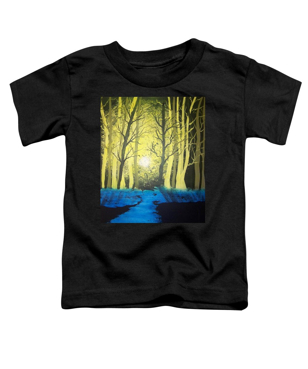 Forest Toddler T-Shirt featuring the painting You Cant See The Forest For The Trees by Laurie Kidd