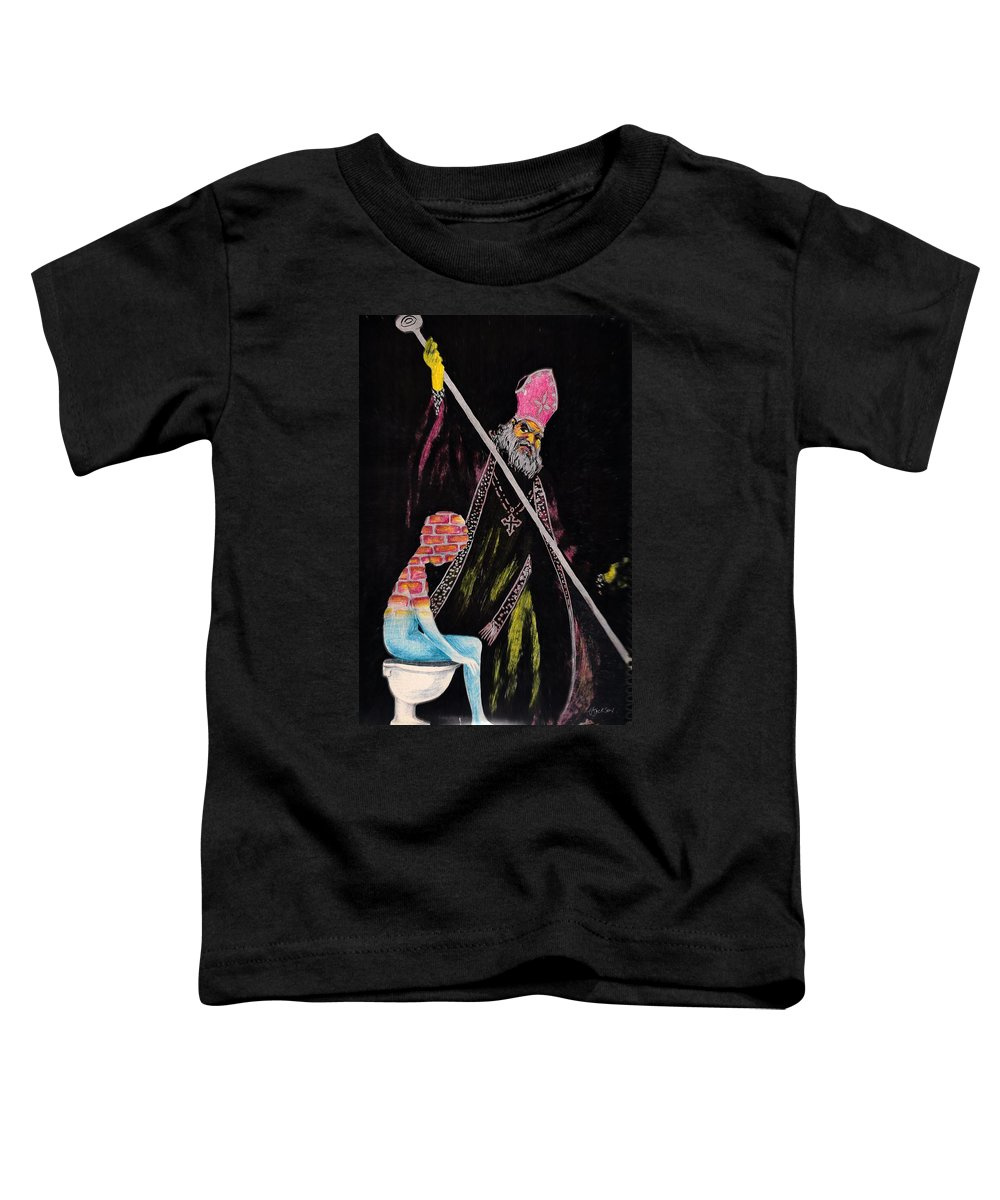 Religion God Salvation Darkness Control Lies Toddler T-Shirt featuring the mixed media You Will Be Saved by Veronica Jackson
