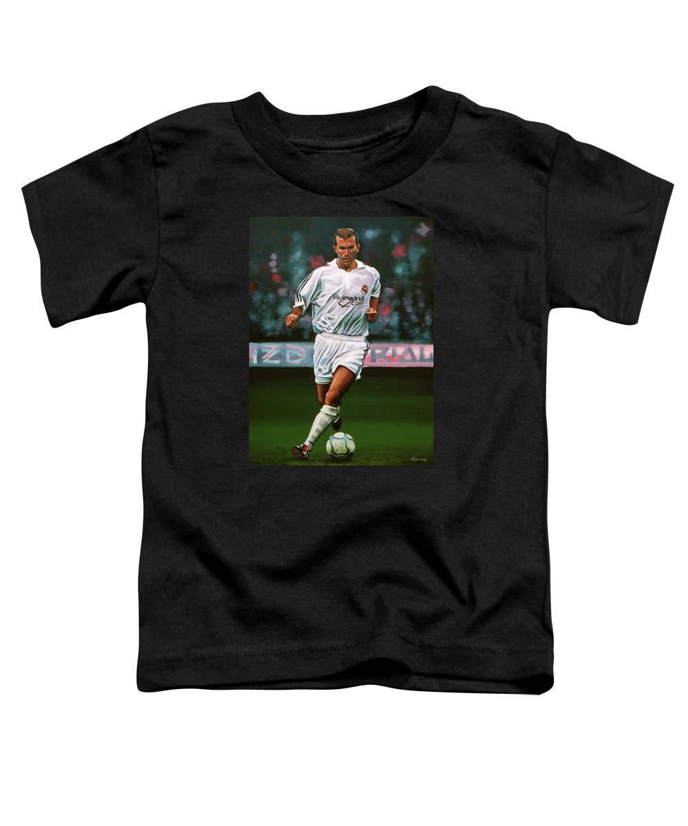 24b12239e Zidane At Real Madrid Painting Toddler T-Shirt for Sale by Paul Meijering