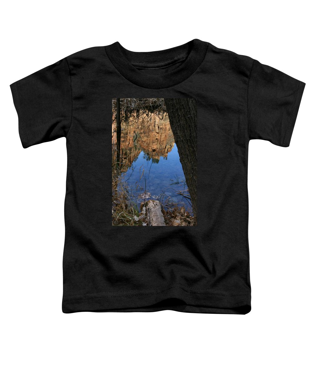Zion Toddler T-Shirt featuring the photograph Zion Reflections by Nelson Strong