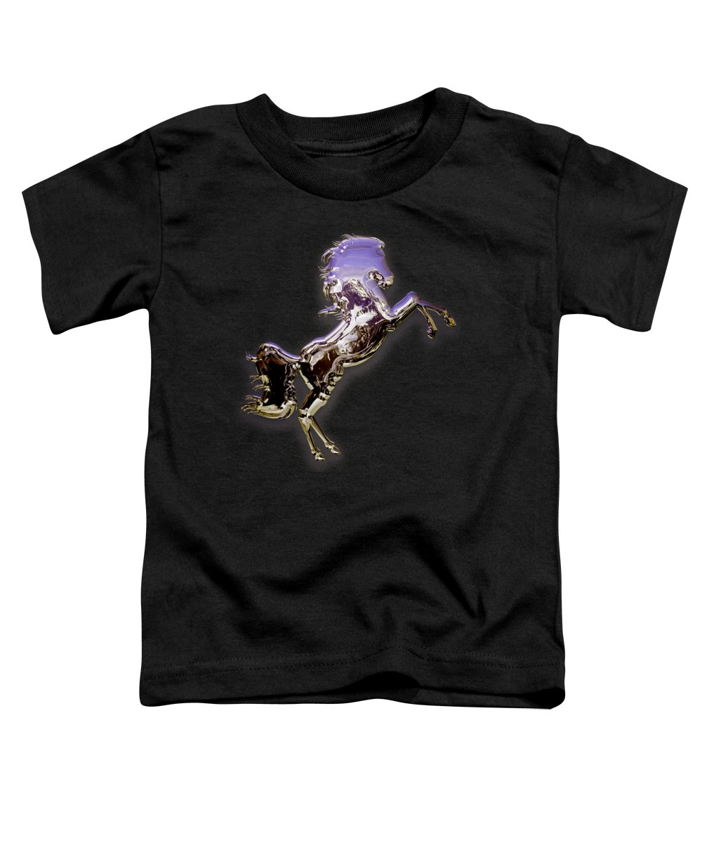 Horse Toddler T-Shirt featuring the mixed media Purple Horse by Marvin Blaine