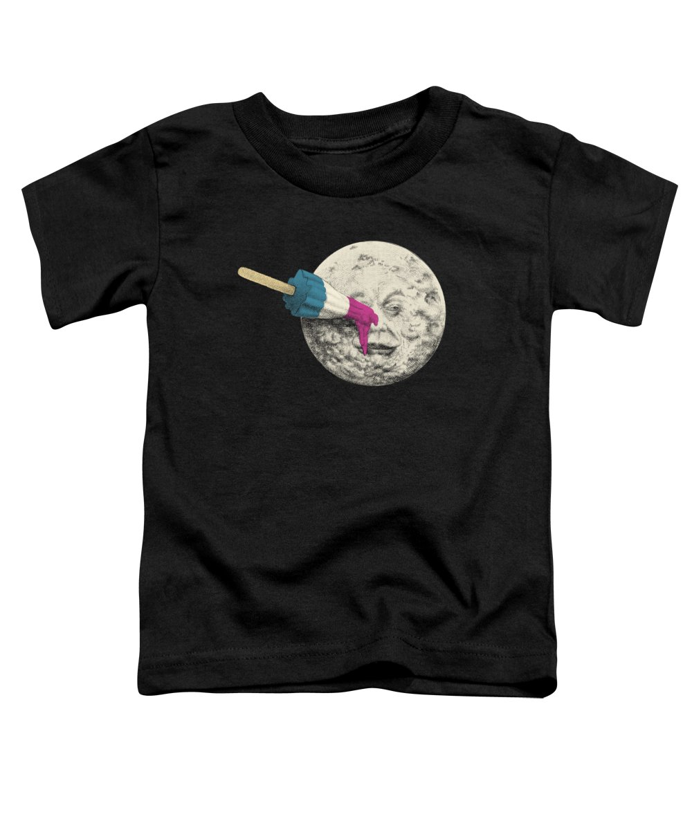 Moon Toddler T-Shirt featuring the drawing Summer Voyage - Option by Eric Fan