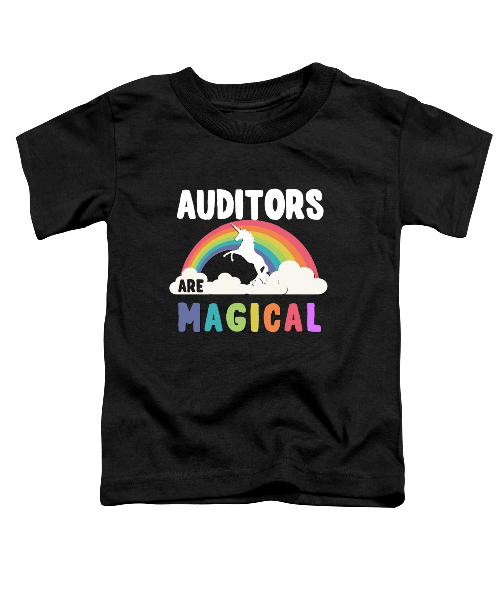 Unicorn Toddler T-Shirt featuring the digital art Auditors Are Magical by Flippin Sweet Gear