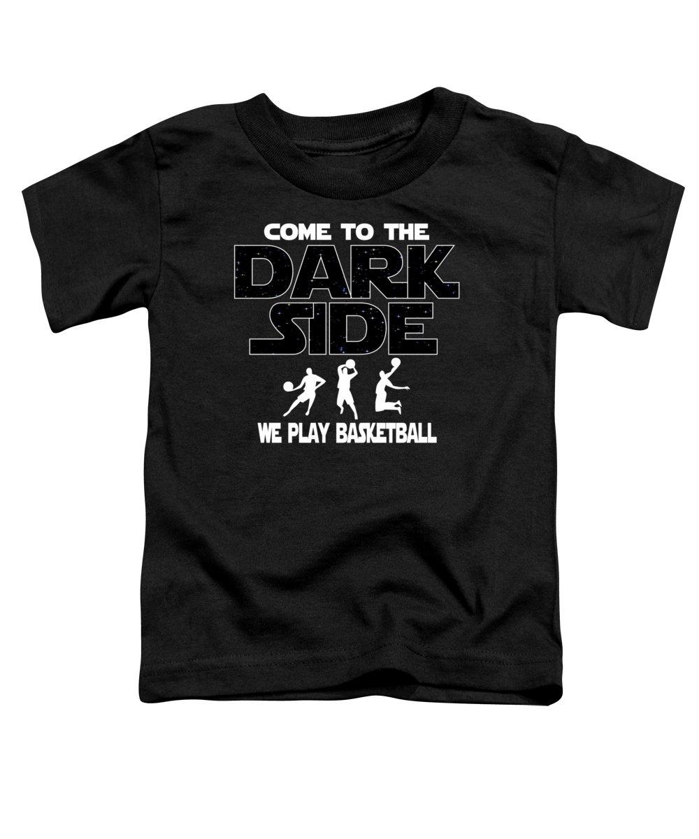 Funny-basketball-design Toddler T-Shirt featuring the digital art Basketball Dark Side Funny Gift by Dusan Vrdelja