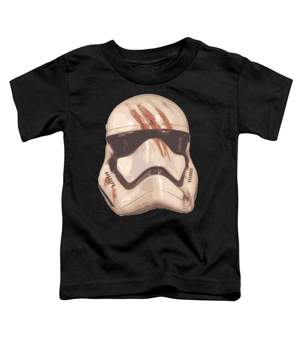 Yoda Toddler T-Shirt featuring the digital art Bloody Helmet by Filip Hellman