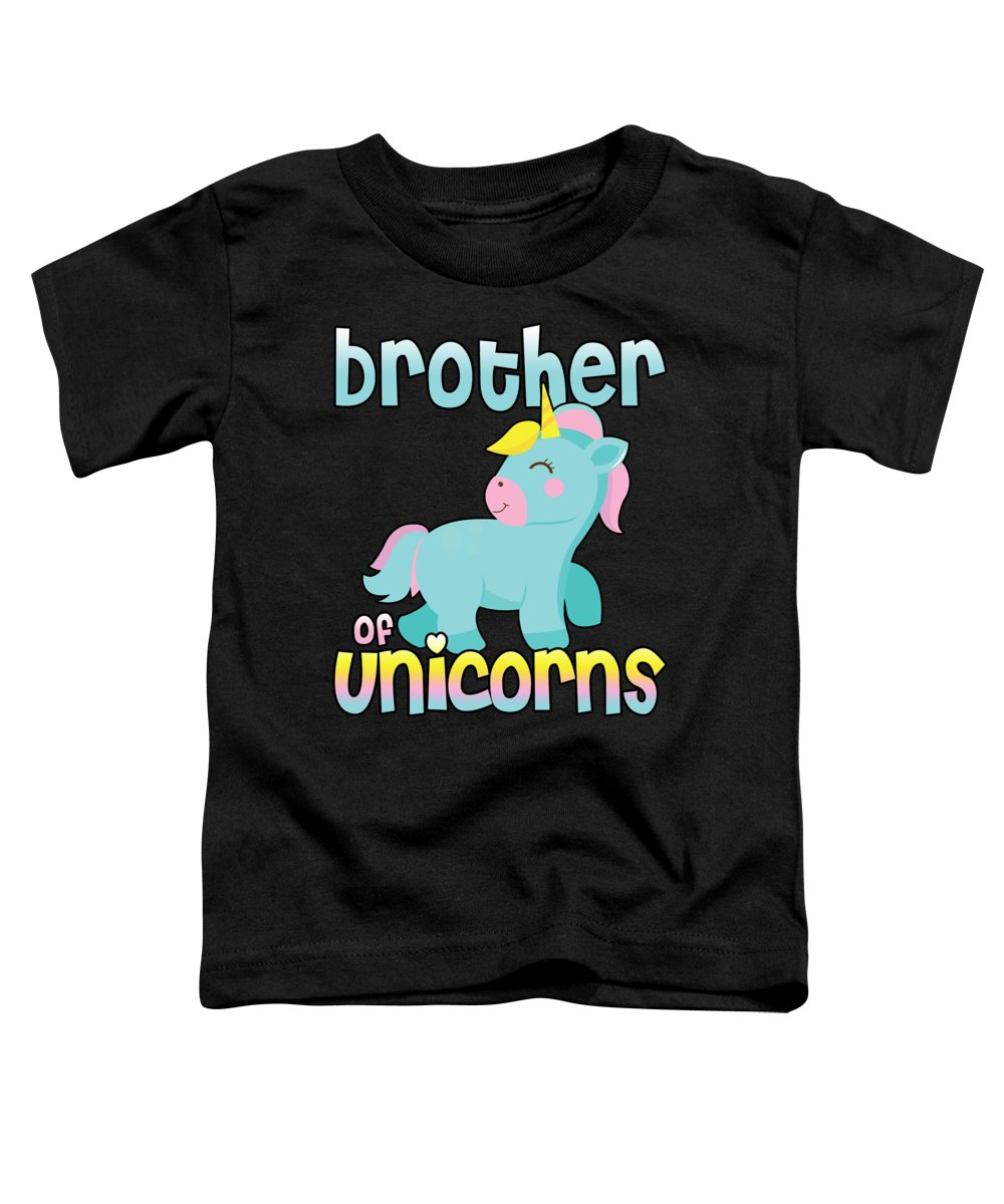 Brothers Toddler T-Shirt featuring the digital art Brother Of Unicorns by Passion Loft