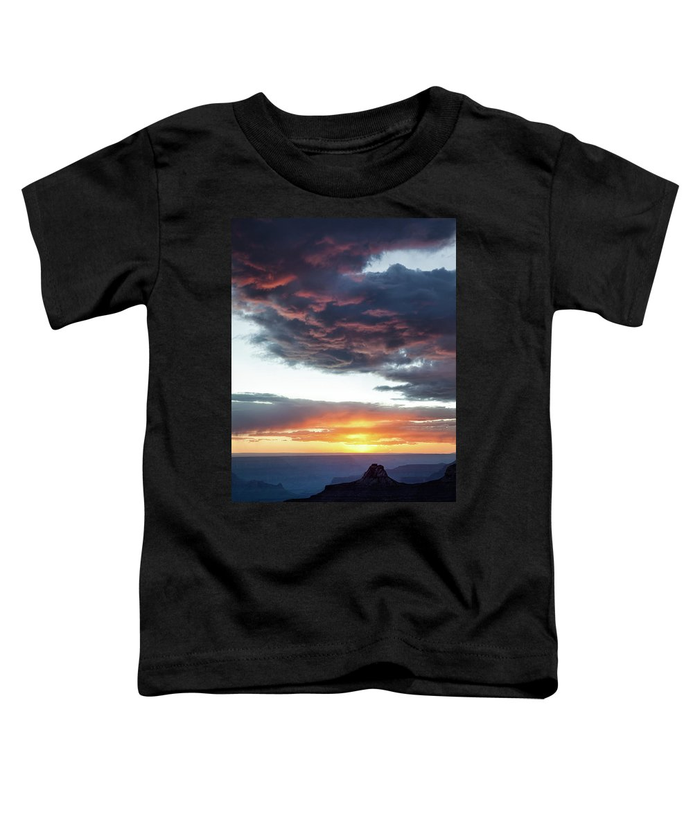 Grand Canyon Toddler T-Shirt featuring the photograph Canyon Sunset by Dave Bowman