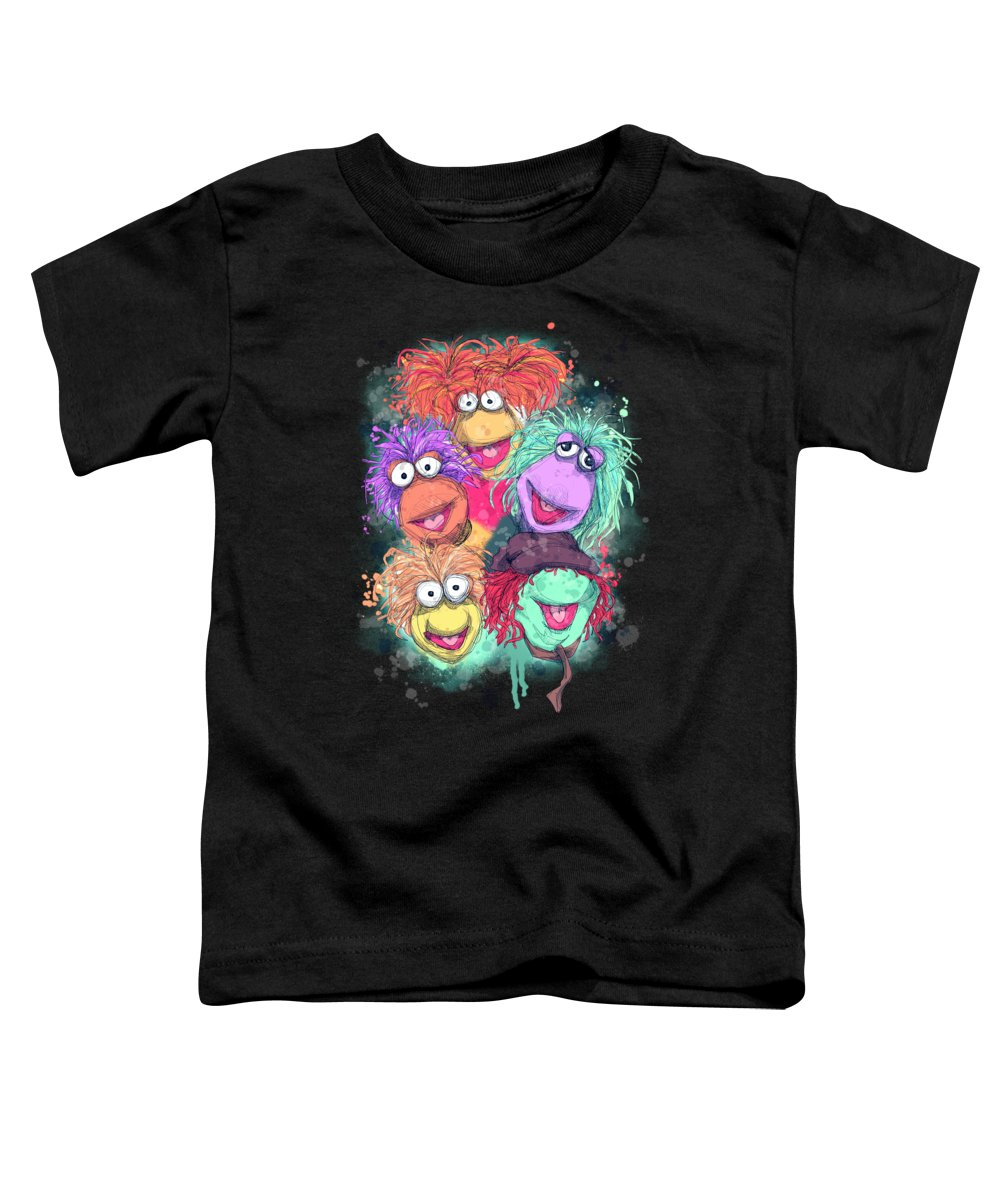 Classic Toddler T-Shirt featuring the drawing Fraggle Rock by Ludwig Van Bacon