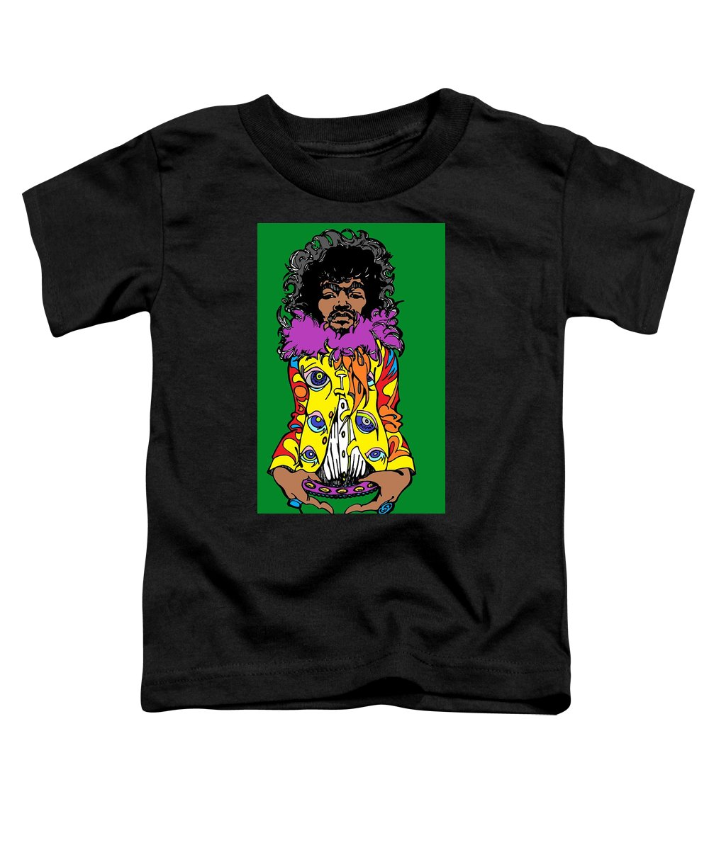 Art Toddler T-Shirt featuring the drawing Jimi Green by SKIP Smith