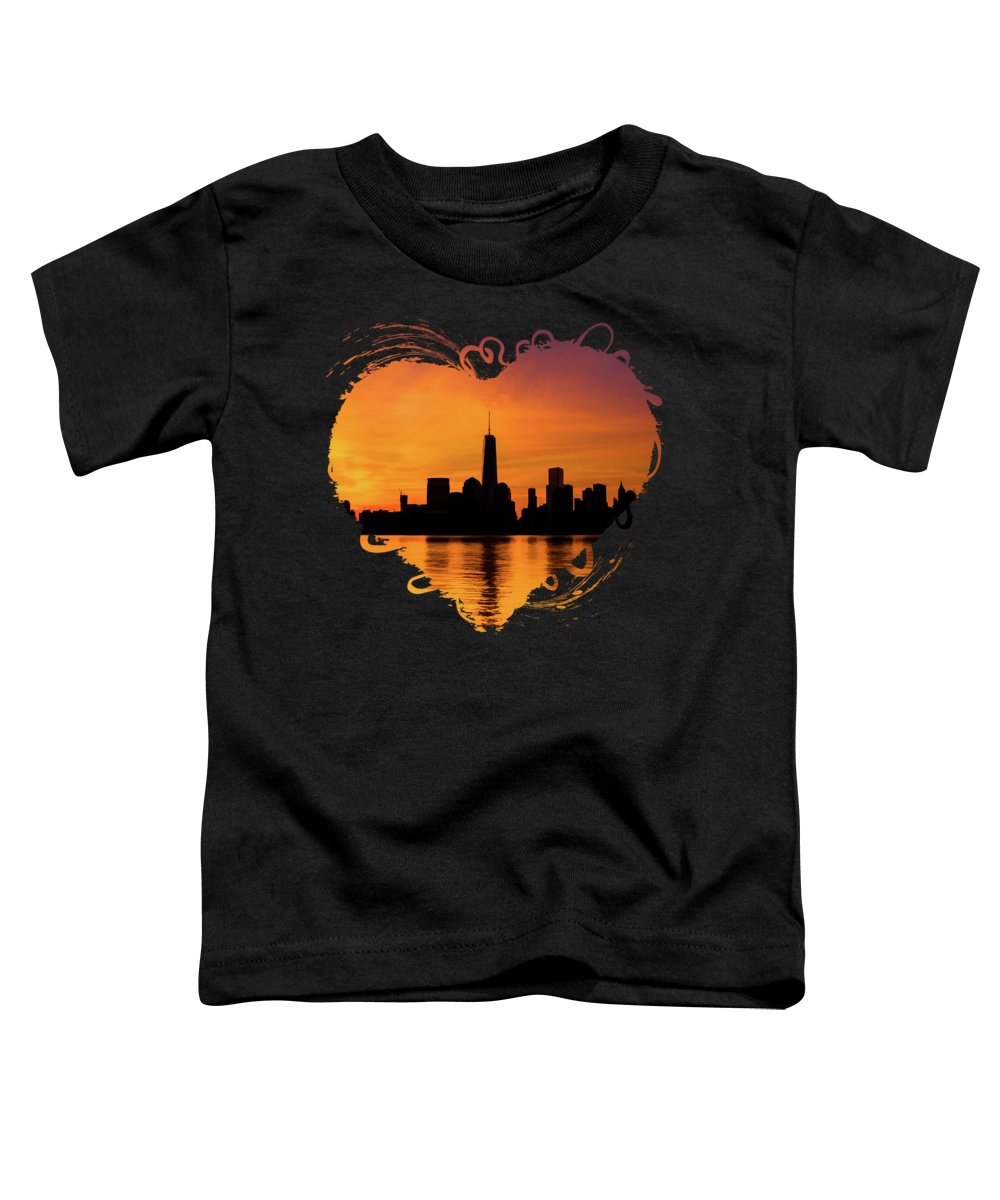 New York City Skyline Paintings Toddler T-Shirts