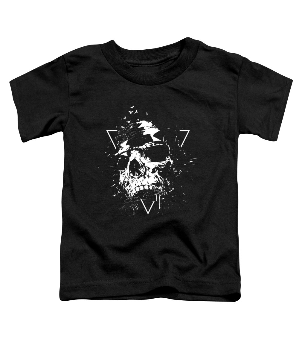 Skull Toddler T-Shirt featuring the mixed media Skull X II by Balazs Solti