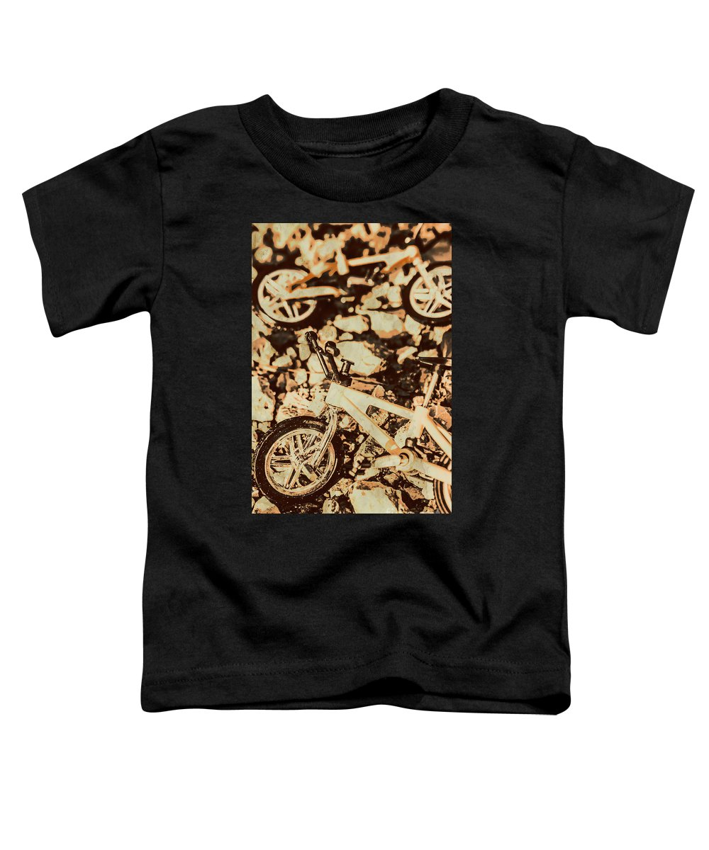 Rugged Toddler T-Shirt featuring the photograph Stunt Bike Country by Jorgo Photography - Wall Art Gallery