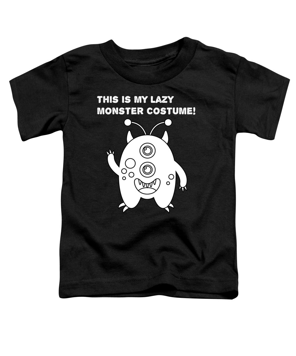 Halloween Shirt Toddler T-Shirt featuring the digital art This Is My Lazymonster Stume2 by Kaylin Watchorn
