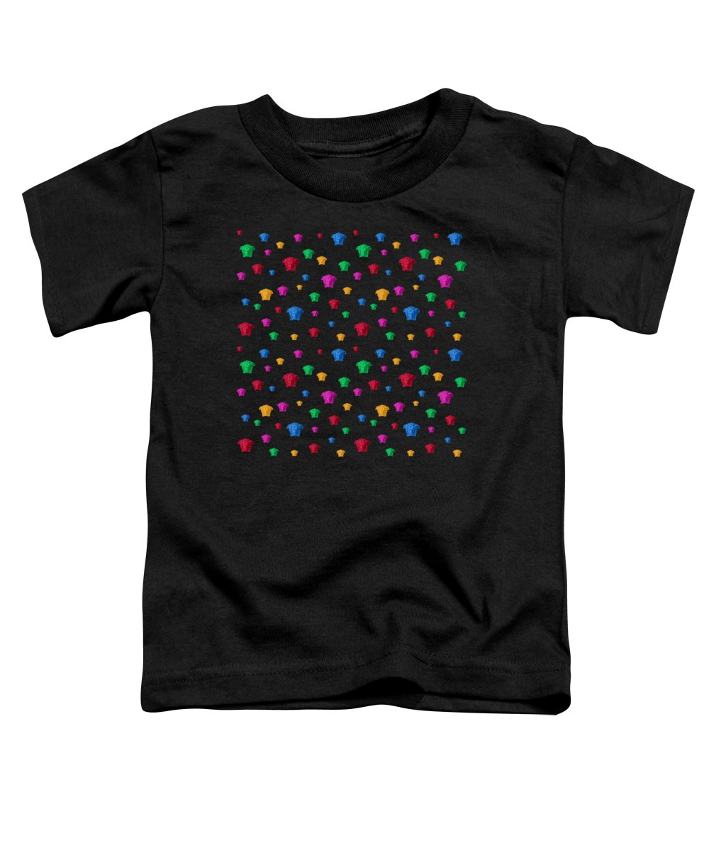 Versace Toddler T-Shirt featuring the painting Versace Abstract-4 by Three Dots