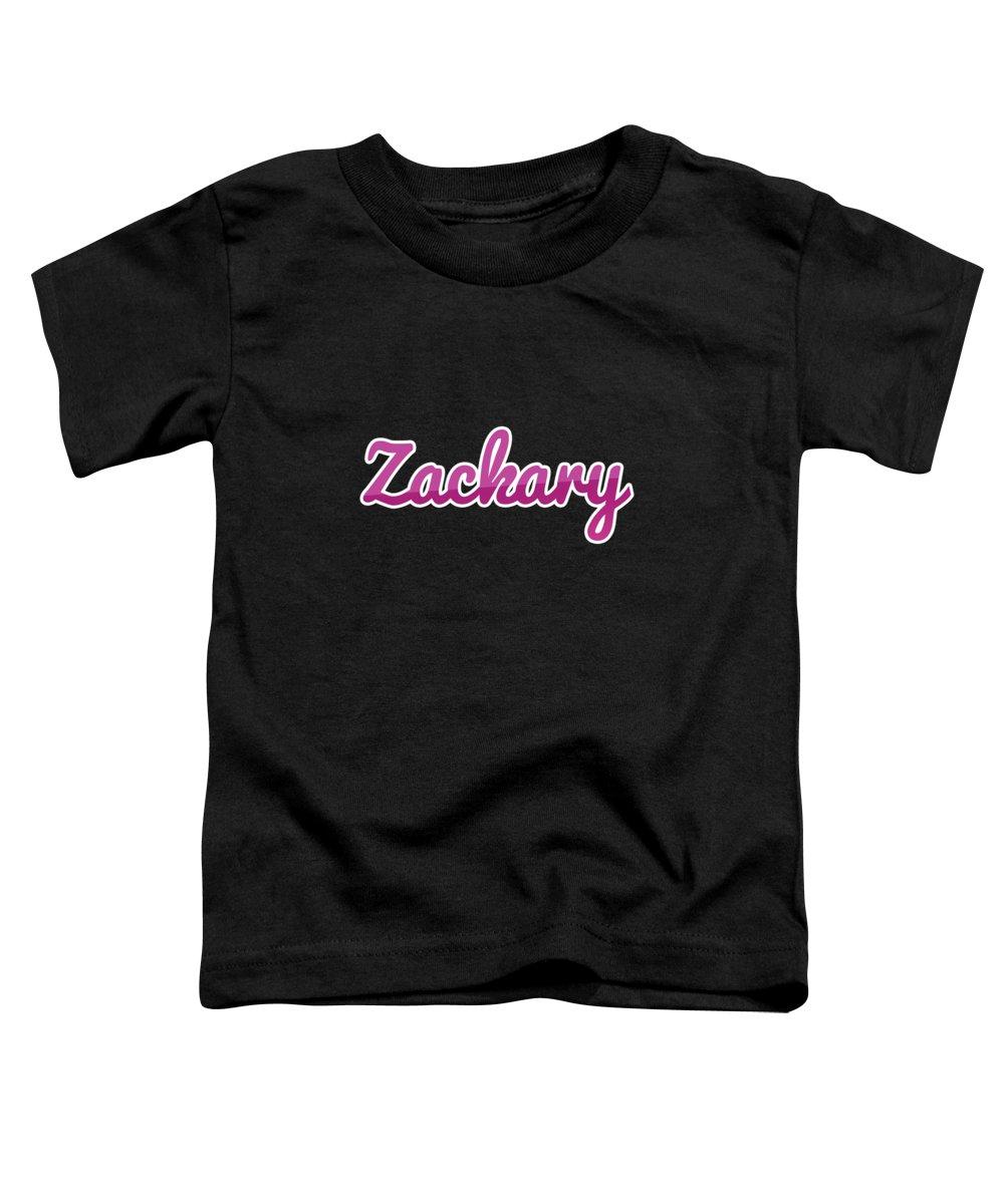 Zackary Toddler T-Shirt featuring the digital art Zackary #zackary by TintoDesigns