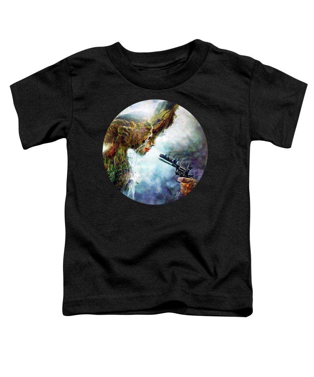 Betrayal Toddler T-Shirt featuring the digital art Betrayal by Mario Sanchez Nevado