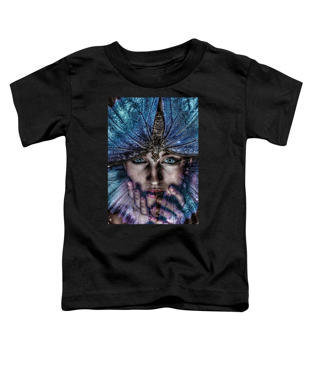 Surrealism Toddler T-Shirt featuring the digital art Butterfly by Gunilla Munro Gyllenspetz